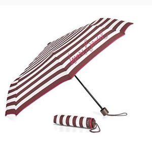 Henri Bendel Brown Striped Umbrella